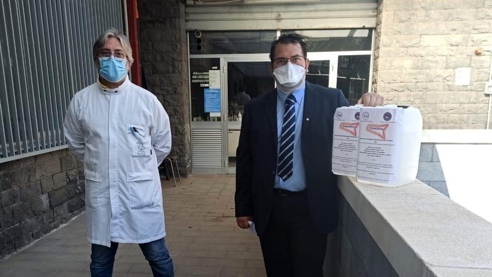 Il dipartimento di Chimica dona igienizzante alla Uil
