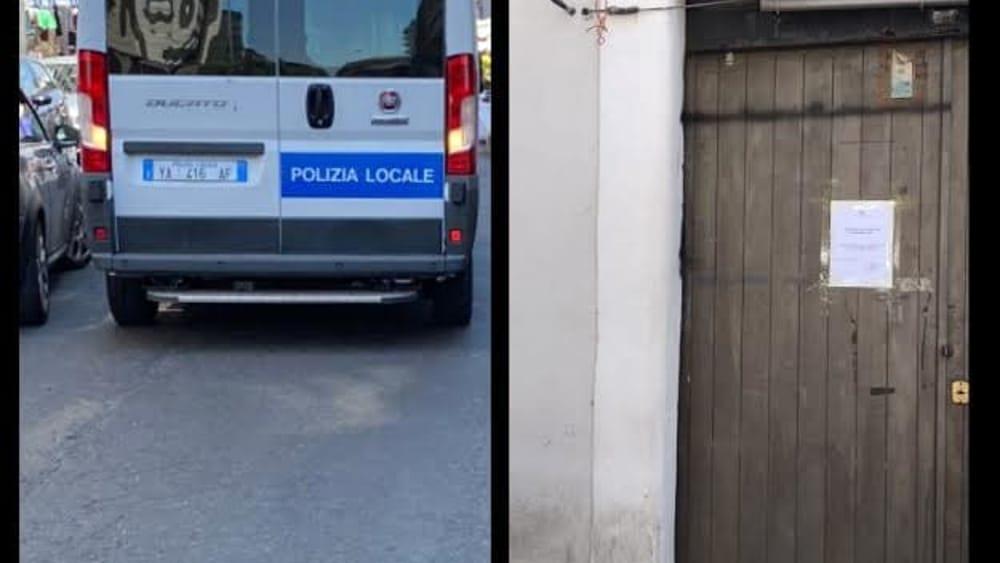 Controlli della municipale, chiuso un negozio abusivo e multati due ambulanti
